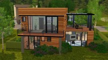 Small Modern House Sims 4