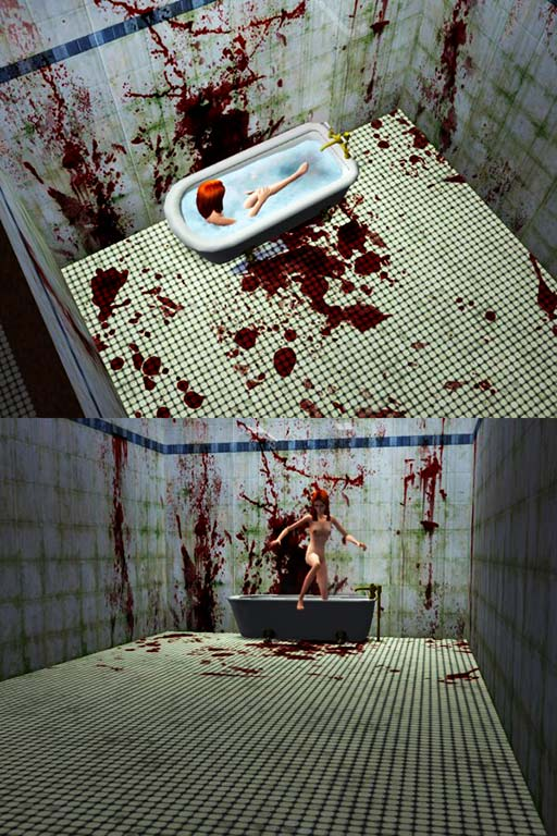 Girl In Blood Wallpaper Mod The Sims Bloody Bathroom Floor Tiles By Drcolossus