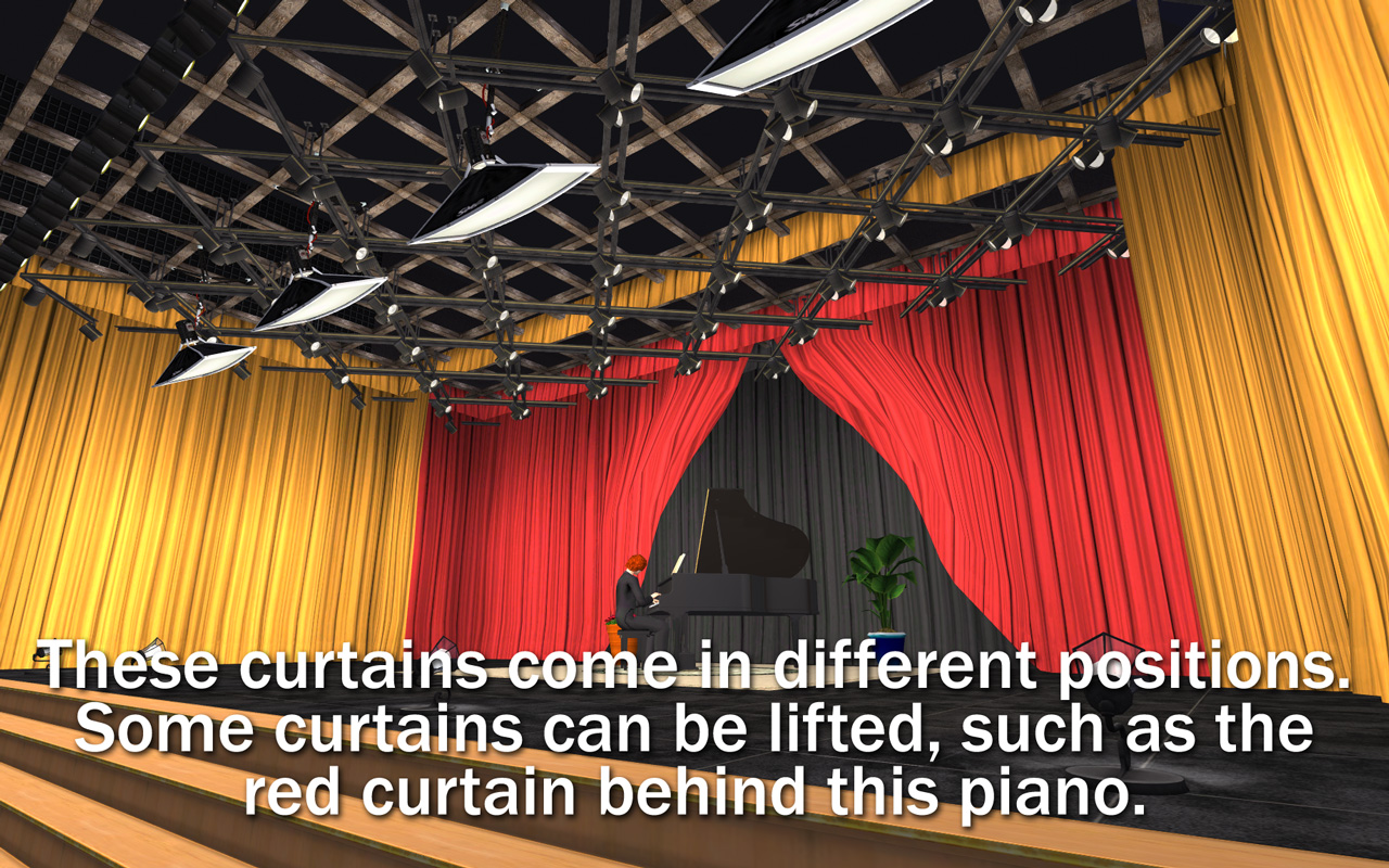 Mod The Sims  NCI  TV Performance Studio Curtains  Fill