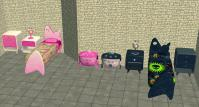 Mod The Sims - Kids Sonic Bedroom Sets in Pink and Blue