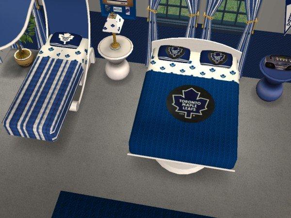 Mod The Sims Toronto Maple Leafs Bedroom For NeilandLisa16