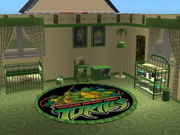 mod the sims - teenage mutant ninja turtles nursery and bedroom