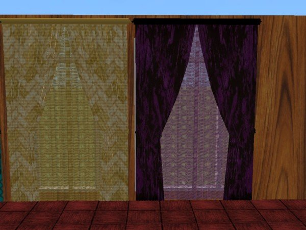 Mod The Sims  Double and Single wide Curtains with
