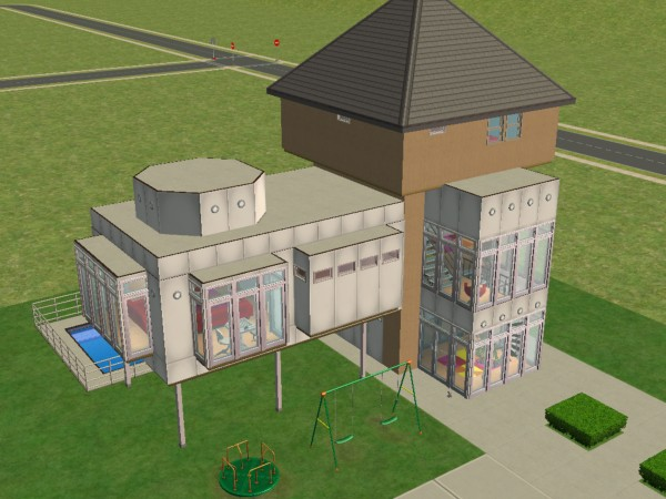 Mod The Sims Grand Designs The Water Tower Conversion NO CC