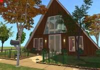 Mod The Sims - Cozy A-Frame Cottage - No CC