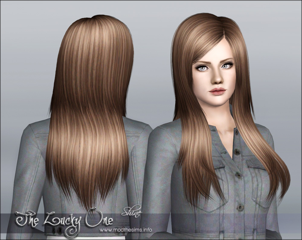 "Mod The Sims ""The Lucky One"" Hair Set For Females Teen To Elder"