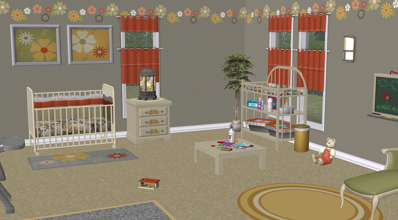 3 Toddler Sims Beds Custom Content