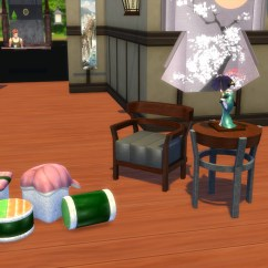Hanging Chair The Sims 4 Anna Slipcover Mod Japanese Inspired Living Set Conversion From 3 X