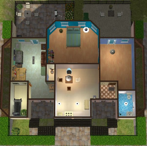 Mod The Sims Town House With Basement Apartment