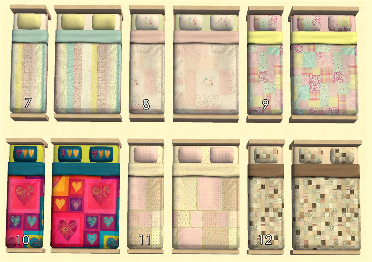 Mod The Sims  Quilts Gone Wild  34 Quilted Beddings