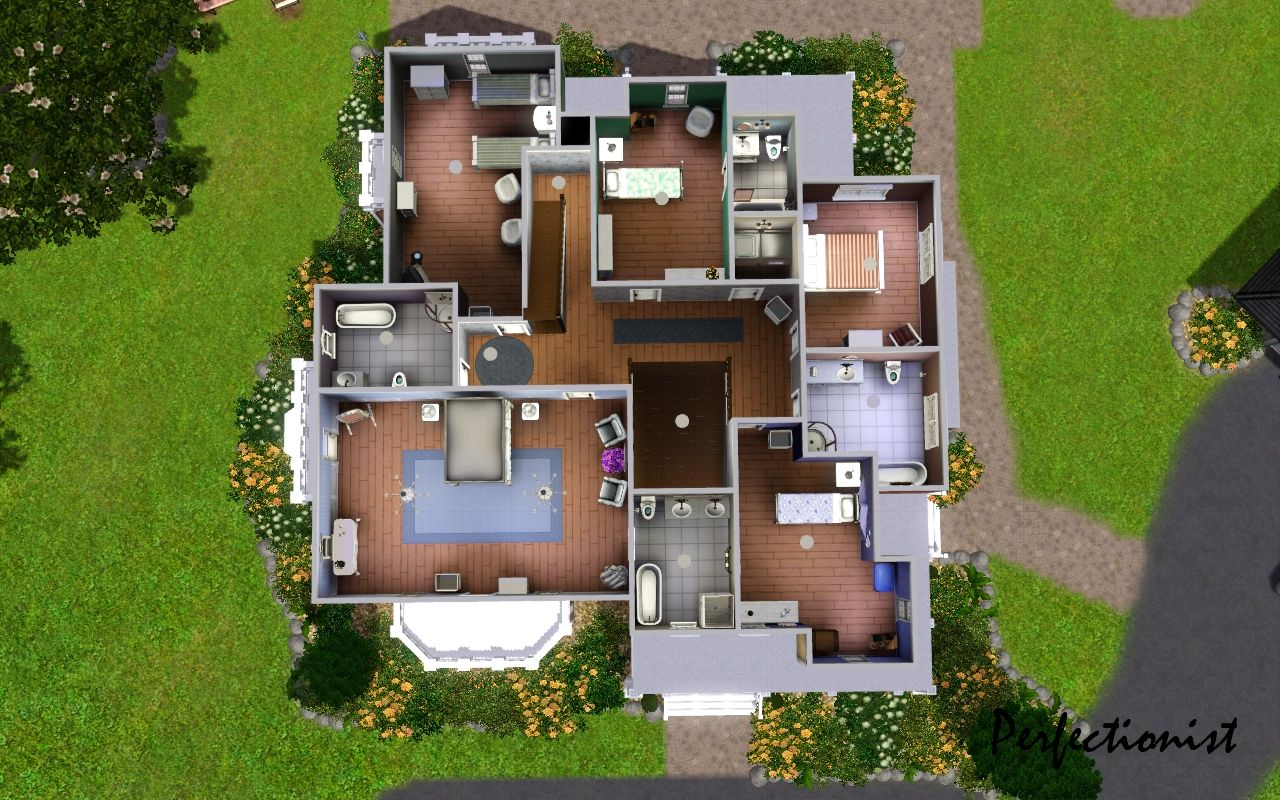 Sims 4 House Layouts 3 Bedroom Novocom Top