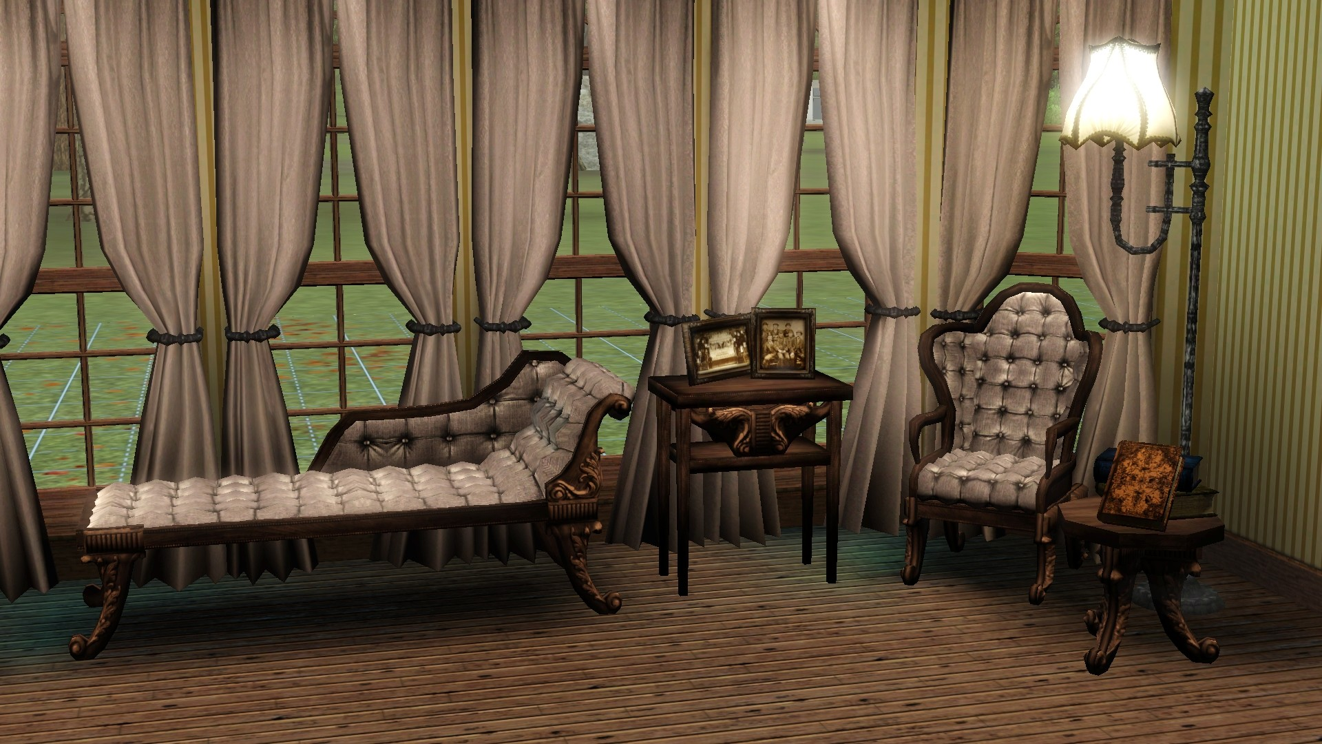 mode chair mission style chairs mod the sims - victorian-gothic parlor set