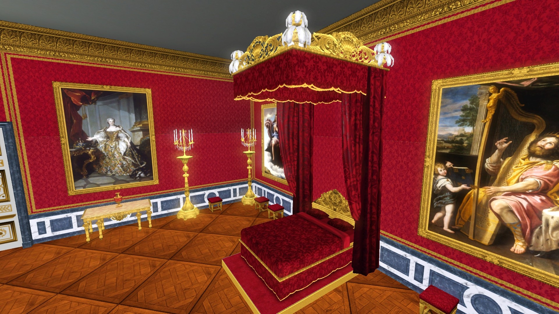 Mod The Sims Louis XIV Canopy Bed