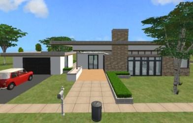 modern front single floor story sims level plans split designs vertical
