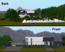 Modern Houses Front and Back View
