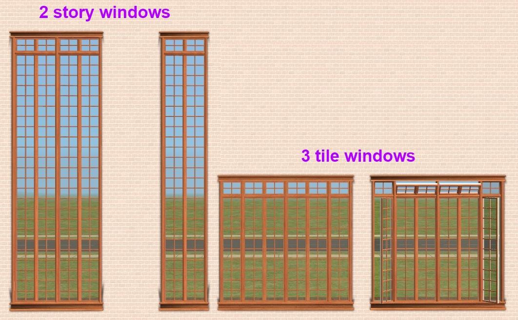 Mod The Sims Maxis MatrixCraftsman Window Set With