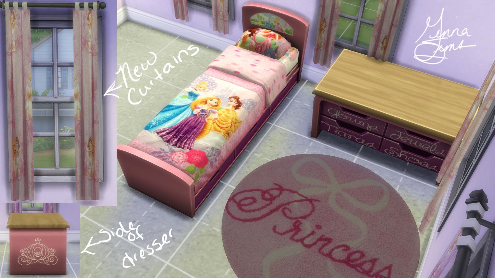 Mod The Sims  Disney Princess Bedroom Set