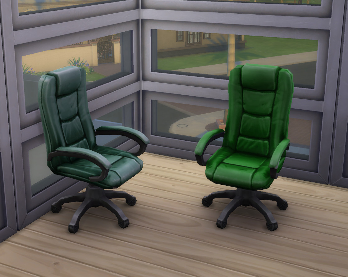 hanging chair the sims 4 red velvet chairs mod recoloured boss executive desk