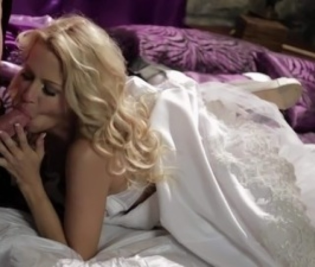 Blond Haired Bride Jessica Drake Looks Great In White This Charming Milfy