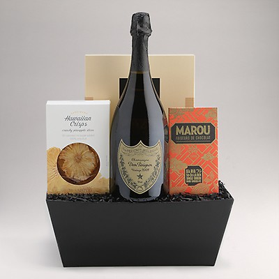 holiday wine cheese gift