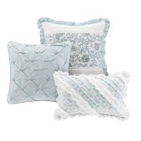 CHIC BLUE LACE 9pc Queen COMFORTER SET : FRENCH COTTAGE ...