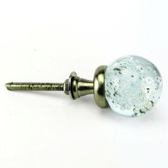 Blue Kitchen Cabinet Knobs Restain Cabinets Glass Hardware Pulls Bubble