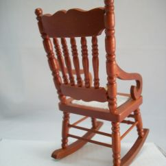 Woven Rocking Chair Lawn Strapping Seat 1 733 Miniature Dollhouse