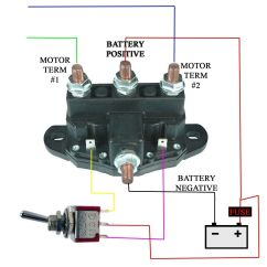 12v Winch Motor Wiring Diagram For Car Radio Installation 12 Volt Dc Reversing Contactors Autos Post