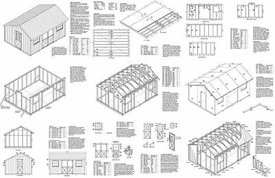 12' x 16' Utility Storage Saltbox Shed Plans, Material