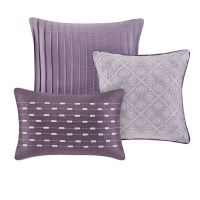 Beautiful 7 Pc Modern Chic Elegant Purple Plum Grey ...
