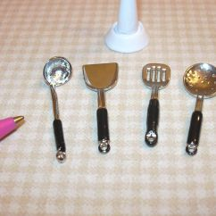 Miniature Kitchen Utensils Remodeling Ideas On A Small Budget Metal Utensil Stand W 4 Loose