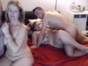Webcam French Teen Couple And Mature Couple