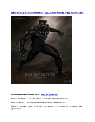 Black Panther Vostfr Streaming : black, panther, vostfr, streaming, {90k}W.a.t.c.h, (