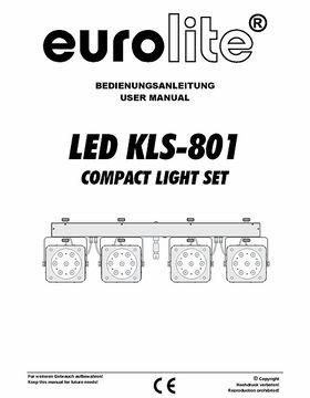 Eurolite LED KLS-801 TCL DMX Kompaktlichtset inkl. Case
