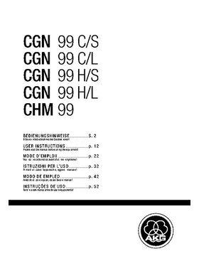 AKG CHM 99 W