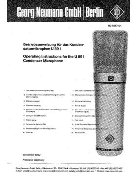 Neumann U89 I