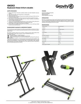 Gravity KSX 2 Keyboard Stand