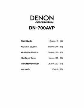 Denon DN-700AVP