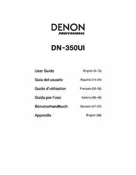 Denon DN 350UI