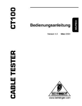 Behringer CT-100 Kabeltester