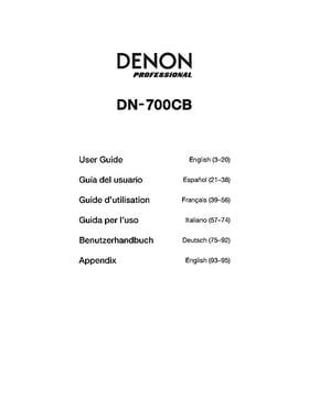 Denon DN 700CB