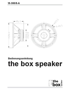 the box Speaker 15-300/8-A Lautsprecher