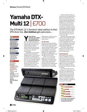 Yamaha DTX-Multi 12 Drum Pad Bundle