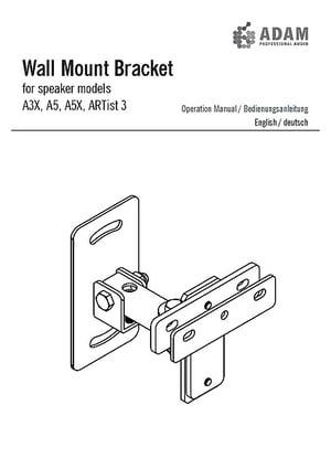Adam Wall Mount Bracket