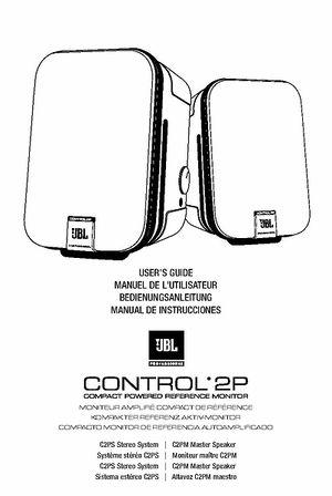JBL Control 2 PS BK