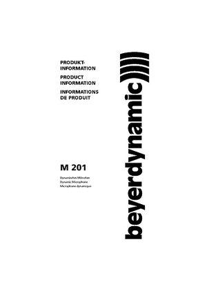 beyerdynamic M201TG Dynamisches Mikrofon