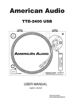 American Audio TTD 2400 USB