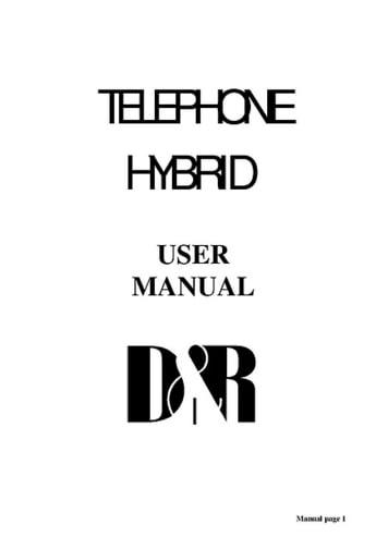 D&R Telephone Hybrid 1