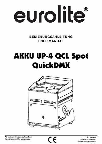 Eurolite AKKU UP-4 QCL Spot QuickDMX