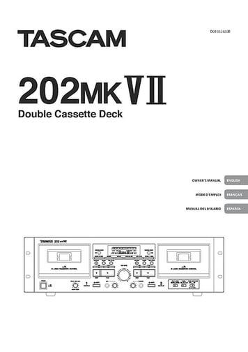 Tascam 202 MKVII